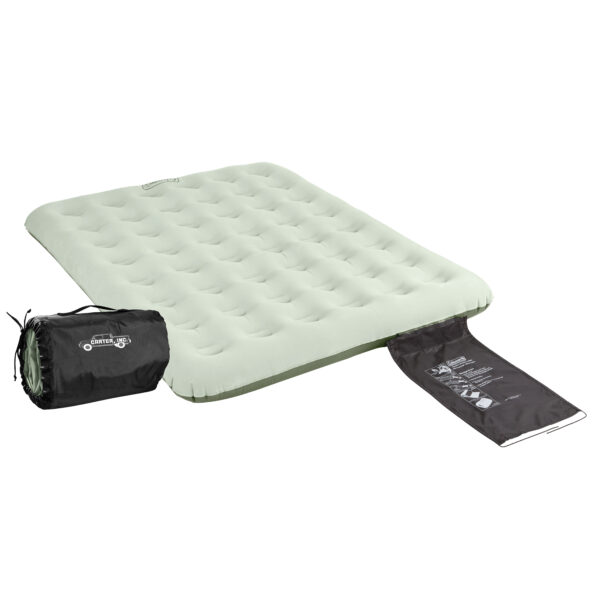 Queen Coleman Quickbed with built-in Wrap 'N' Roll storage system.