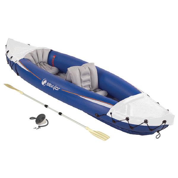 Blue/White 2 Person Kayak w/Pump & Paddle
