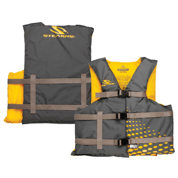 Gold / Gray Adult Universal Classic Nylon Boating PFD