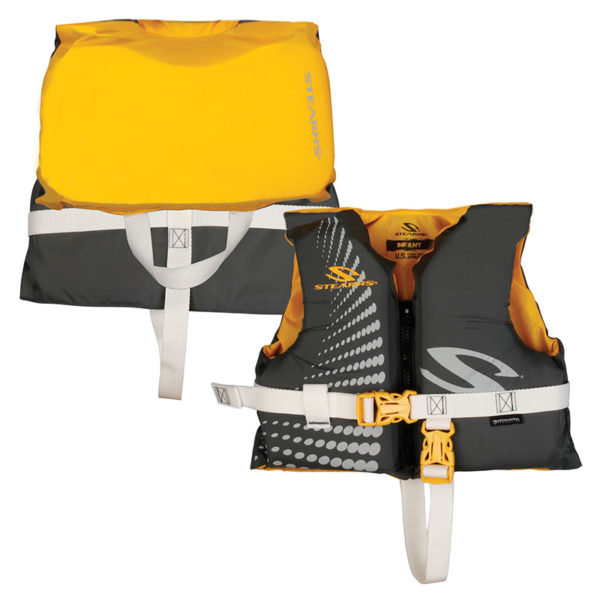 Gold / Gray Infant Classic Nylon Heads Up PFD