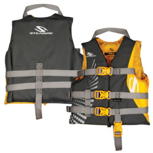 Gold / Gray Child Classic Nylon Boating PFD