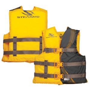 Gold / Gray Youth Classic Nylon Boating PFD