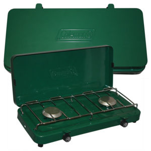 Green Basic 2-Burner Propane Stove