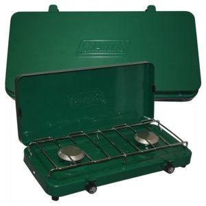 Green Basic 2-Burner Propane Stove