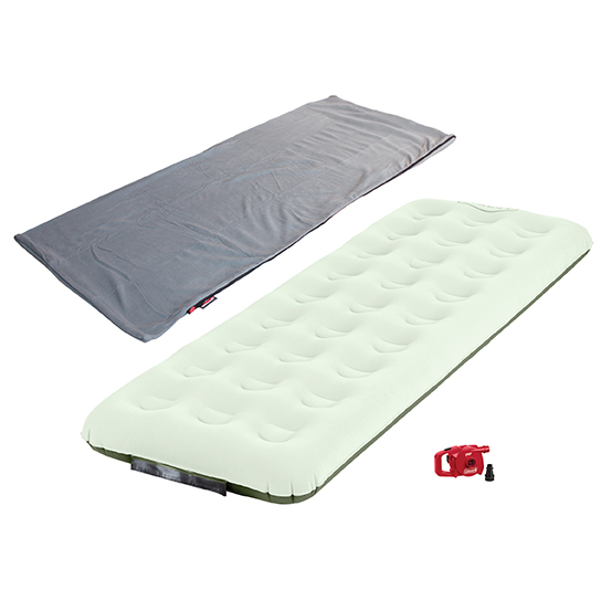 Twin Slim Airbed with Pump and Stratus Fleece Sleeping Bag.