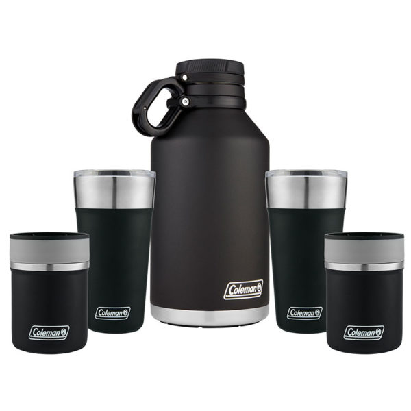 Brew for 2 Package with one Growler, two 20 oz Brewskis, and two lounger coozies
