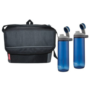 Chug & Chill Package with one 18-can Collapsible Soft Cooler and two Chug Hydration Bottles