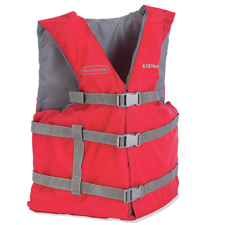 Nintendo logo transfered on Life Jacket