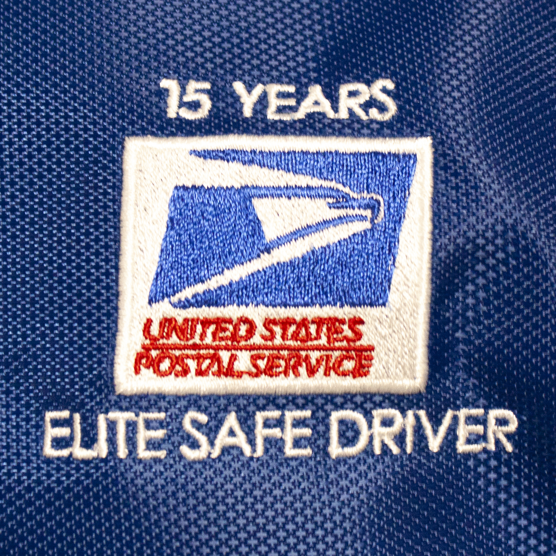 USPS Elite Safe Driver Embroidery