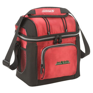 Red 16 Can Soft Cooler with Liner - Embroidery