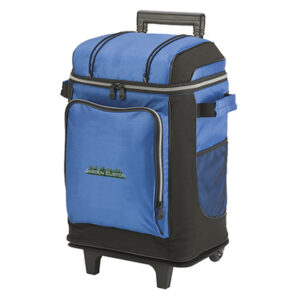 Blue 42 Can Soft Cooler Wheeled - Embroidery