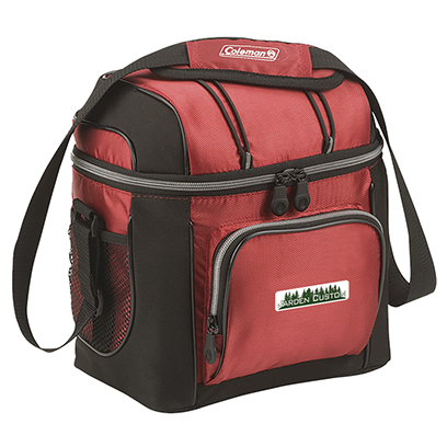 Red 9 Can Soft Cooler with Liner - Full Color Transfer
