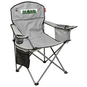 Light Gray Cooler Quad Chair with Full Color Transfer on the front