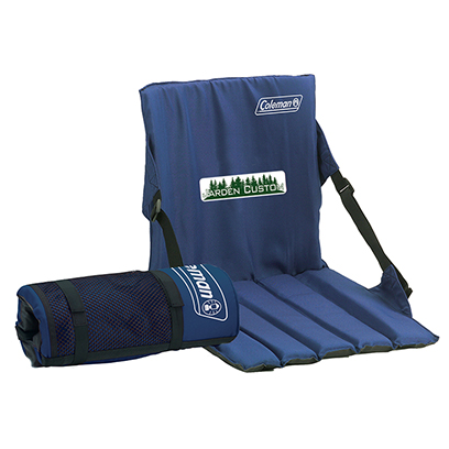 Blue Stadium Seat with Full Color Transfer on the front