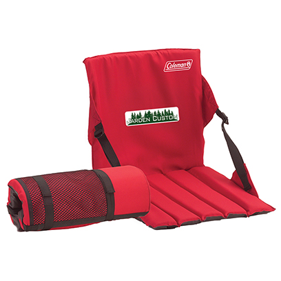 Red Stadium Seat with Full Color Transfer on the front