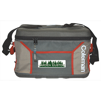 Khaki/Gray 45 Can Sport Collapsible Cooler - Full Color Transfer