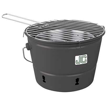 Gray Charcoal Party Pail with Full Color Decal