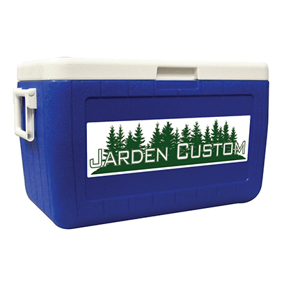 Blue 48 Quart Cooler - Decal