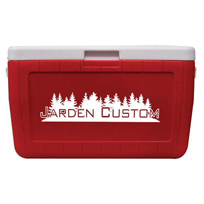 Red 48 Quart Cooler - Screen