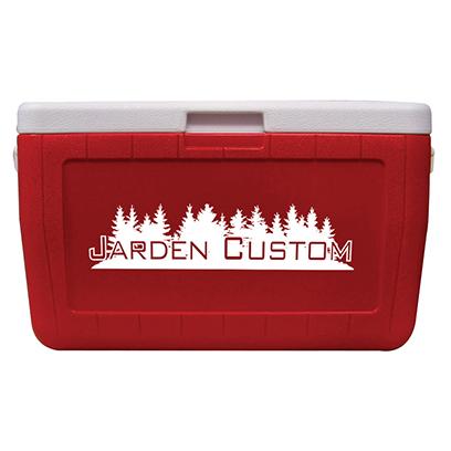 Red 48 Quart Cooler - Screen