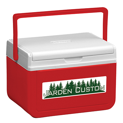 Red 5 Qt Cooler - Decal