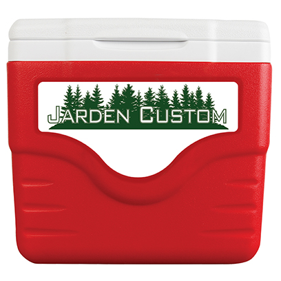 Red 9 Qt Cooler Excursion - Decal