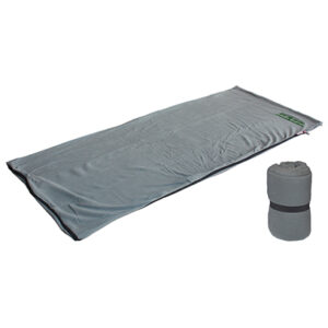 Gray Stratus Fleece Sleeping Bag with Embroidery at top right