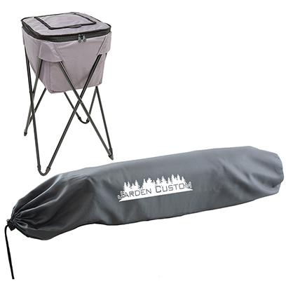 Gray Soft Portable Party Cooler - Screen Cooler Bag