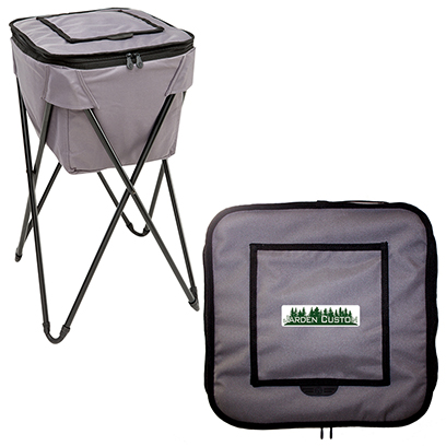 Gray Soft Portable Party Cooler - Full Color Transfer Flap