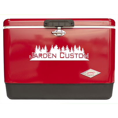 Red 54 Qt Steel Belted Cooler - Screen Front