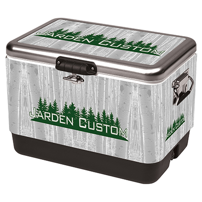 Stainless 54 Qt Steel Belted Cooler - Full Wrap