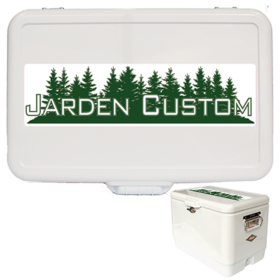 White 54 Qt Steel Belted Cooler - Decal Lid