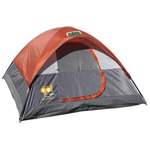 Orange/ Gray 7x7 Go! 3-Person Dome Tent with Full Color Transfer
