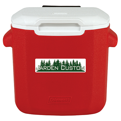 Red 16 Qt Wheeled Cooler - Decal