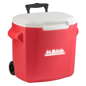 Red 28 Qt Wheeled Cooler - Screen