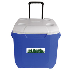 Blue 45 Qt Wheeled Cooler - Decal