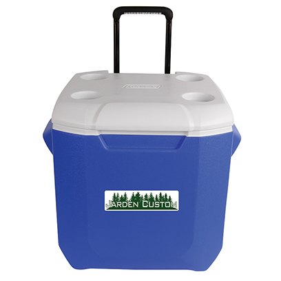 Blue 45 Qt Wheeled Cooler - Decal