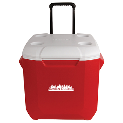 Red 45 Qt Wheeled Cooler - Screen