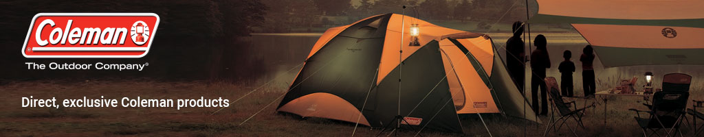 Family Camping with Tent, chairs, table, and lantern