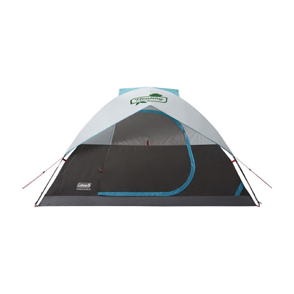 Grey 4-Person Coleman Onesource Dome Tent with screen.